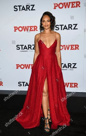 "Cynthia Addai-Robinson attends the world premiere of the Starz television series ""Power"" final season at Madison Square Garden, in New York"