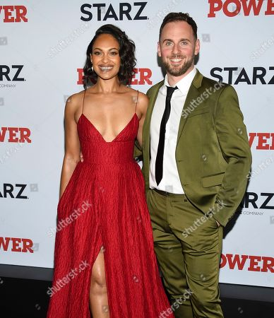 "Stock Picture of Cynthia Addai-Robinson, Thomas Hefferon. Cynthia Addai-Robinson, left, and Thomas Hefferon attend the world premiere of the Starz television series ""Power"" final season at Madison Square Garden, in New York"