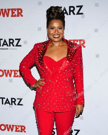 "Courtney A. Kemp attends the world premiere of the Starz television series ""Power"" final season at Madison Square Garden, in New York"