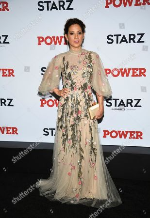 "Elizabeth Rodriguez attends the world premiere of the Starz television series ""Power"" final season at Madison Square Garden, in New York"