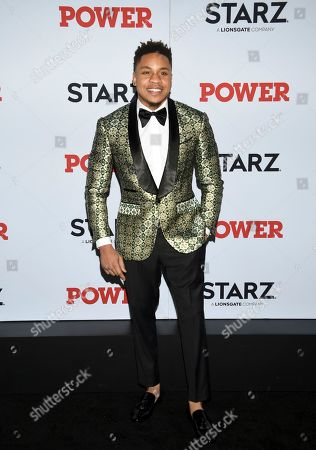 "Stock Image of Rotimi Akinosho attends the world premiere of the Starz television series ""Power"" final season at Madison Square Garden, in New York"