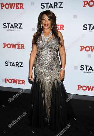 "Alicia Myers attends the world premiere of the Starz television series ""Power"" final season at Madison Square Garden, in New York"