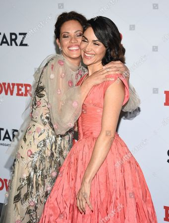 "Elizabeth Rodriguez, Lela Loren. Actors Elizabeth Rodriguez, left, and Lela Loren attend the world premiere of the Starz television series ""Power"" final season at Madison Square Garden, in New York"