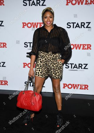 """Alicia Quarles attends the world premiere of the Starz television series """"Power"""" final season at Madison Square Garden, in New York"""