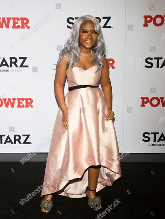 "Stock Photo of Donshea Hopkins attends the world premiere of the Starz television series ""Power"" final season at Madison Square Garden, in New York"