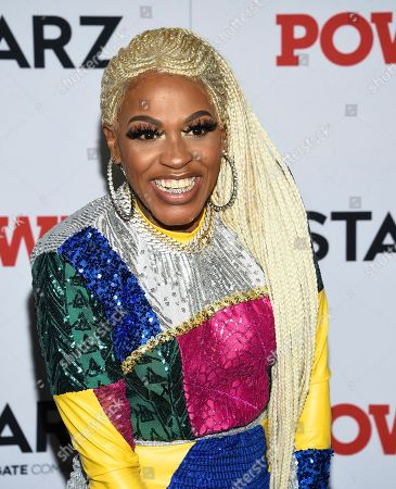 """Lil' Mo attends the world premiere of the Starz television series """"Power"""" final season at Madison Square Garden, in New York"""