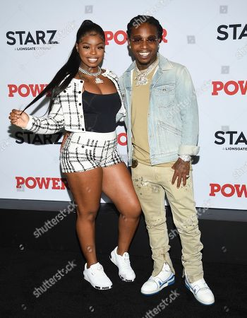 "Dreezy, Jacquees. Dreezy, left, and Jacquees attend the world premiere of the Starz television series ""Power"" final season at Madison Square Garden, in New York"