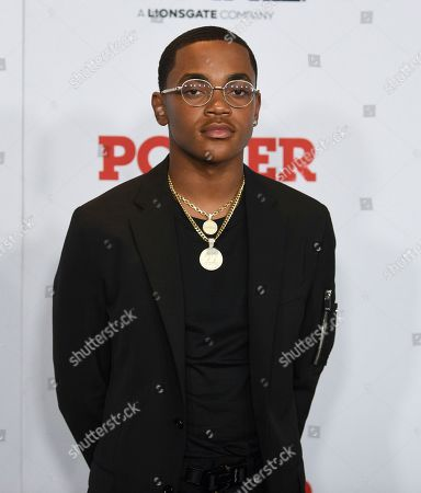 """Michael Rainey Jr. Michael Rainey, Jr. attends the world premiere of the Starz television series """"Power"""" final season at Madison Square Garden, in New York"""