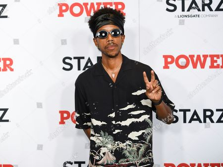 """Darrell Britt-Gibson attends the world premiere of the Starz television series """"Power"""" final season at Madison Square Garden, in New York"""