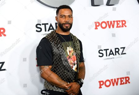 """Omari Hardwick attends the world premiere of the Starz television series """"Power"""" final season at Madison Square Garden, in New York"""