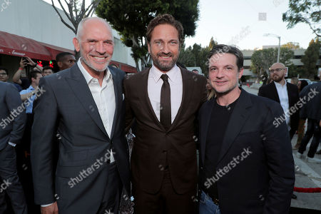 Joe Drake, Lionsgate Motion Picture Group Chairman, Gerard Butler, Damon Wolf, Lionsgate Motion Picture Group Marketing President,