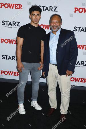 Geoffrey Owens (R) and son Jordan