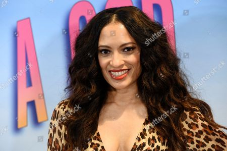"""Melissa De Sousa, a cast member in the Showtime series """"On Becoming a God in Central Florida,"""" poses at a screening of the show at the London West Hollywood, in West Hollywood, Calif"""