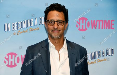 "Grant Heslov, executive producer of the Showtime series ""On Becoming a God in Central Florida,"" poses at a screening of the show at the London West Hollywood, in West Hollywood, Calif"