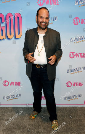 """Mel Rodriguez, a cast member in the Showtime series """"On Becoming a God in Central Florida,"""" poses at a screening of the show at the London West Hollywood, in West Hollywood, Calif"""