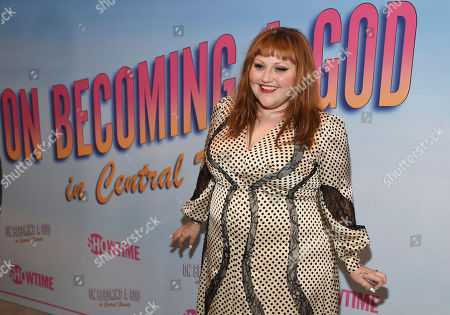 """Beth Ditto, a cast member in the Showtime series """"On Becoming a God in Central Florida,"""" poses at a screening of the show at the London West Hollywood, in West Hollywood, Calif"""