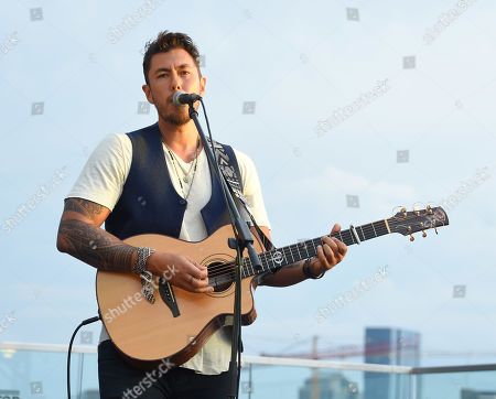 Stock Image of Justin Young from the country music band Gone West