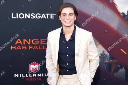 Jake T. Austin arrives for the premiere of Lionsgate's 'Angel Has Fallen' at the Regency Village Theater in Los Angeles, California, USA, 20 August 2019. The movie opens in US theaters on 23 August 2019.