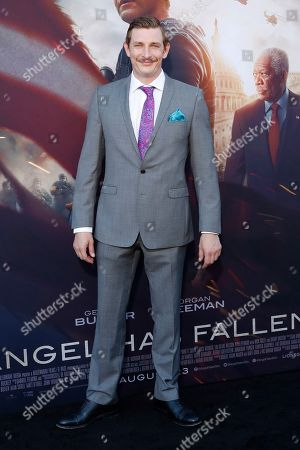 Frederick Schmidt arrives for the premiere of Lionsgate's 'Angel Has Fallen' at the Regency Village Theater in Los Angeles, California, USA, 20 August 2019. The movie opens in US theaters on 23 August 2019.