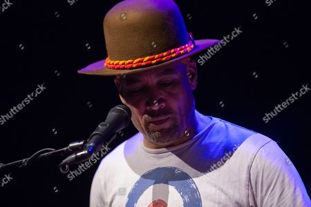 Stock Image of Ben Harper & The Innocent Criminals perform on stage during their co-headlining tour with Trombone Shorty & Orleans Avenue at the MECU Pavilion, in Baltimore