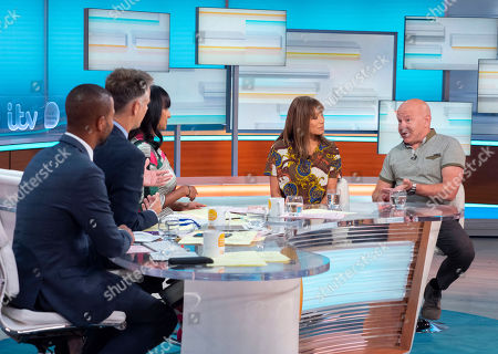 Stock Image of Sean Fletcher, Richard Bacon, Ranvir Singh with Dominic Littlewood and Anna Ryder Richardson