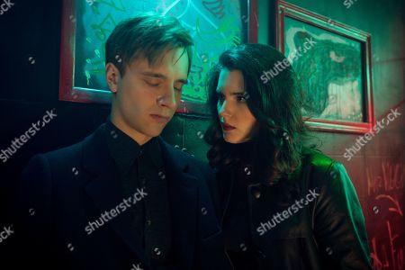 Stock Photo of Maciej Musial as Kajetan Skowron and Michalina Olszanska as Ofelia 'Effy' Ibrom