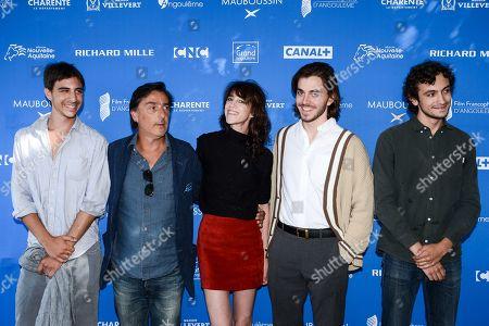 Yvan Attal, Charlotte Gainsbourg and Panayotis Pascot