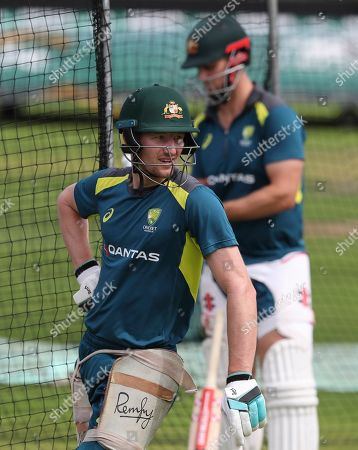 Australia's Cameron Bancroft during a nets training session at Headingley cricket ground in Leeds, England . England will play Australia at Headingley in the third Ashes test match, starting on Thursday Aug. 22