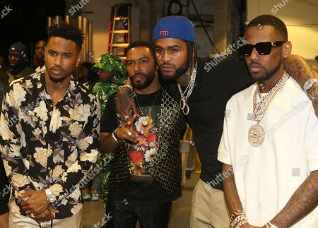 Stock Image of Trey Songz & Omari Hardwick & Dave East & Fabolous