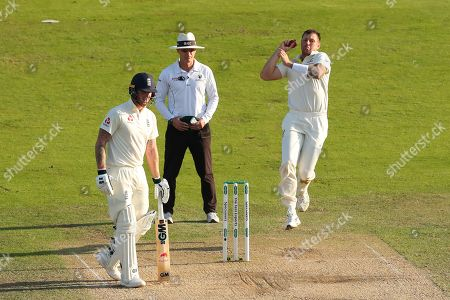 LEEDS, ENGLAND. 24 AUGUST 2019: James Pattinson of Australia bowling during day three of the 3rd Specsavers Ashes Test Match, at Headingley Cricket Ground, Leeds, England.