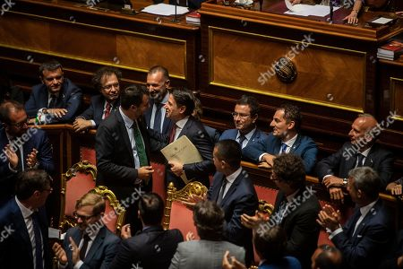 Editorial picture of Italian Premier addresses the Senate of the Republic, Rome, Italy - 20 Aug 2019