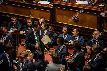 Matteo Salvini, Gianmarco Centinaio, Giulia Bongiorno, Luigi Di Maio, Alfonso Bonafede, Danilo Toninelli, Giuseppe Conte