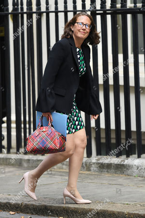 Baroness Evans, Leader of the House of Lords, arrives at No.10 Downing Street, London.