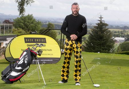 Stock Image of Kevin McNaughton at the celebrity golf day. It will raise awareness of mental health and the invaluable work that is carried out by Back Onside. Mental health charity Back Onside's 3rd Celebrity Golf day took place at Gleddoch House Spa and Golf Resort.