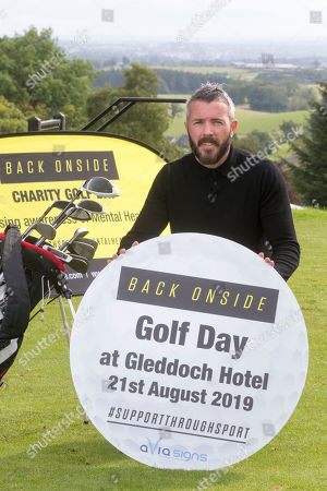Stock Photo of Kevin McNaughton at the celebrity golf day. It will raise awareness of mental health and the invaluable work that is carried out by Back Onside. Mental health charity Back Onside's 3rd Celebrity Golf day took place at Gleddoch House Spa and Golf Resort.