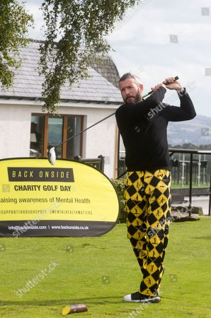 Kevin McNaughton at the celebrity golf day. It will raise awareness of mental health and the invaluable work that is carried out by Back Onside. Mental health charity Back Onside's 3rd Celebrity Golf day took place at Gleddoch House Spa and Golf Resort.