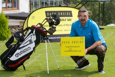 Charlie Miller at the celebrity golf day. It will raise awareness of mental health and the invaluable work that is carried out by Back Onside. Mental health charity Back Onside's 3rd Celebrity Golf day took place at Gleddoch House Spa and Golf Resort.