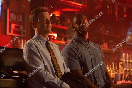 Greg Kinnear as Justin Brooks and Aldis Hodge as Brian Banks