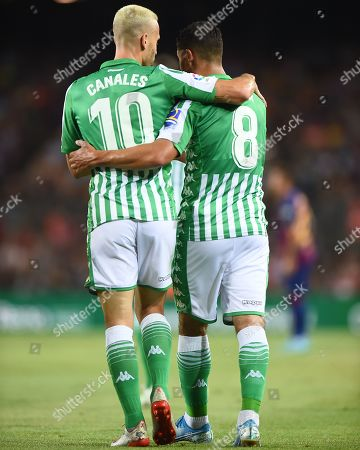 Nabil Fekir of Real Betis celebrates his gol (0-1) Nabil Fekir of Real Betis celebrates his goal (0-1) with his teammate Sergio Canales