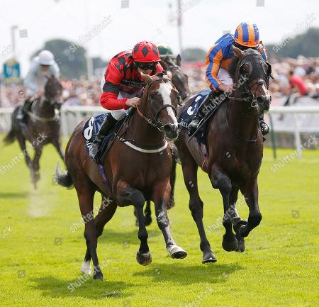 VALDERMORO and Tony Hamilton Win the Tattersalls Acomb Stakes for trainer Richard Fahey York Racecourse