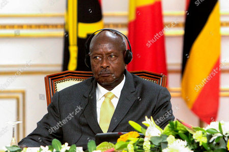 Ugandan President Yoweri Museveni during the signing of an agreement to cease the hostilities between Uganda and Rwanda, Luanda, Angola, 21 August 2019. Relations between Uganda and Rwanda have deteriorated in recent months to the point where former allies were accused of espionage, political assassination and interference in internal affairs.