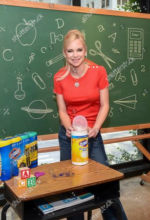 Actress and mom Anna Faris helps launch the Clorox brand's Back-to-School Clean Spaces campaign, in New York