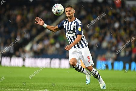 West Bromwich Albion defender Kieran Gibbs (3) concentrates on the ball as he looks to cross during the EFL Sky Bet Championship match between West Bromwich Albion and Reading at The Hawthorns, West Bromwich