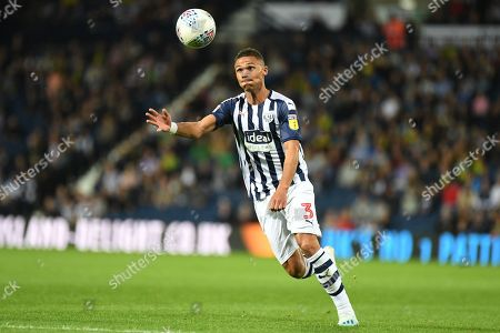 West Bromwich Albion defender Kieran Gibbs (3) concentrates on the ball during the EFL Sky Bet Championship match between West Bromwich Albion and Reading at The Hawthorns, West Bromwich