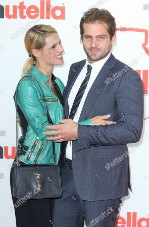 Stock Picture of Michelle Hunziker and Tomaso Trussardi