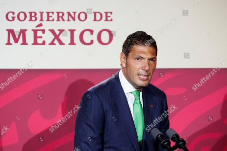 Chairman of the Board of Directors of Grupo Financiero Banorte Carlos Hank Gonzalez participates in the Banorte Strategy Forum, in Mexico City, Mexico, 21 August 2019. The Mexican economy has slowed more than expected and has widened the gap between its potential and real growth, Mexico's central bank governor Alejandro Diaz de Leon said during an economic forum in the capital.