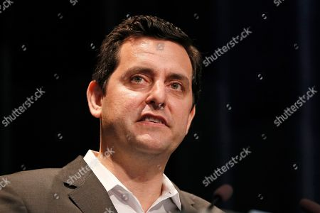 Stock Picture of Democratic presidential candidate and stand-up comedian Ben Gleib speaks at the Iowa Federation of Labor convention, in Altoona, Iowa