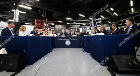 Attorney General William Barr (CR) along with Senator John Cornyn (CL) talk with people at the North Lake Highlands Youth Boxing Gym in Dallas, Texas, USA, 21 August 2019. Attorney General William Barr is in Dallas, Texas to promote Project Safe Neighborhoods.