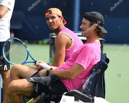 Rafael Nadal and Carlos Moya