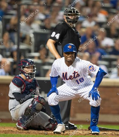 Editorial photo of Indians Mets Baseball, New York, USA - 21 Aug 2019